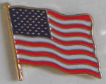 USA Country Flag Enamel Pin Badge